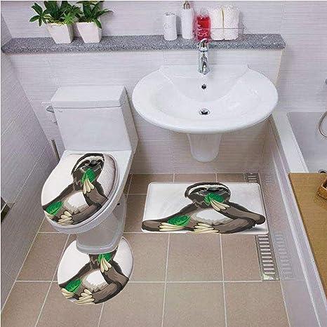 Juego de Alfombrillas de baño Redondas para Inodoro, 3 ...