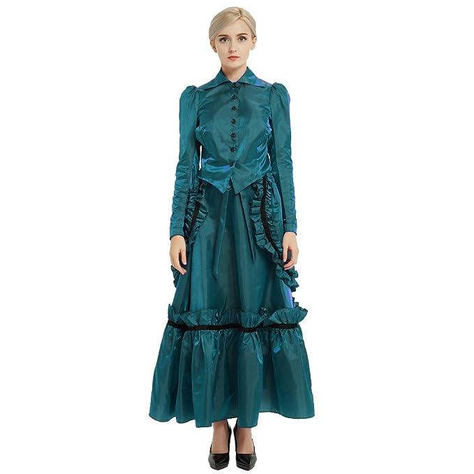 GRACEART Steampunk Edwardian Vestido de Chaqueta y Trajes de Falda ...