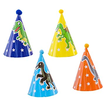 Toyvian Tema de Dinosaurio Fiesta de cumpleaños Cono ...