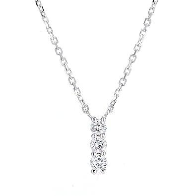 Naava womens 9ct white gold 010ct diamond trilogy pendant necklace naava womens 9ct white gold 010ct diamond trilogy pendant necklace of length 40cm aloadofball Choice Image