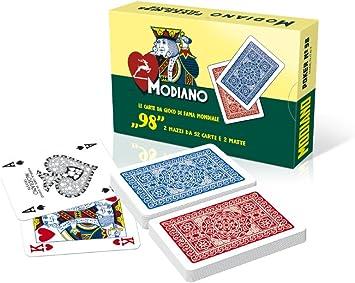 Modiano Poker 98 - Juego de cartas (en italiano): Amazon.es: Juguetes y juegos
