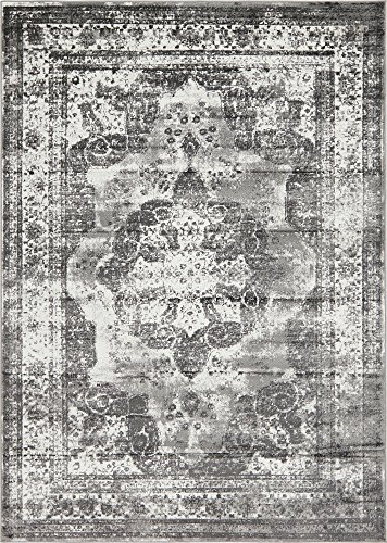 Unique Loom 3141294 Area Rug, 7'' x 10'', Grey by Unique Loom