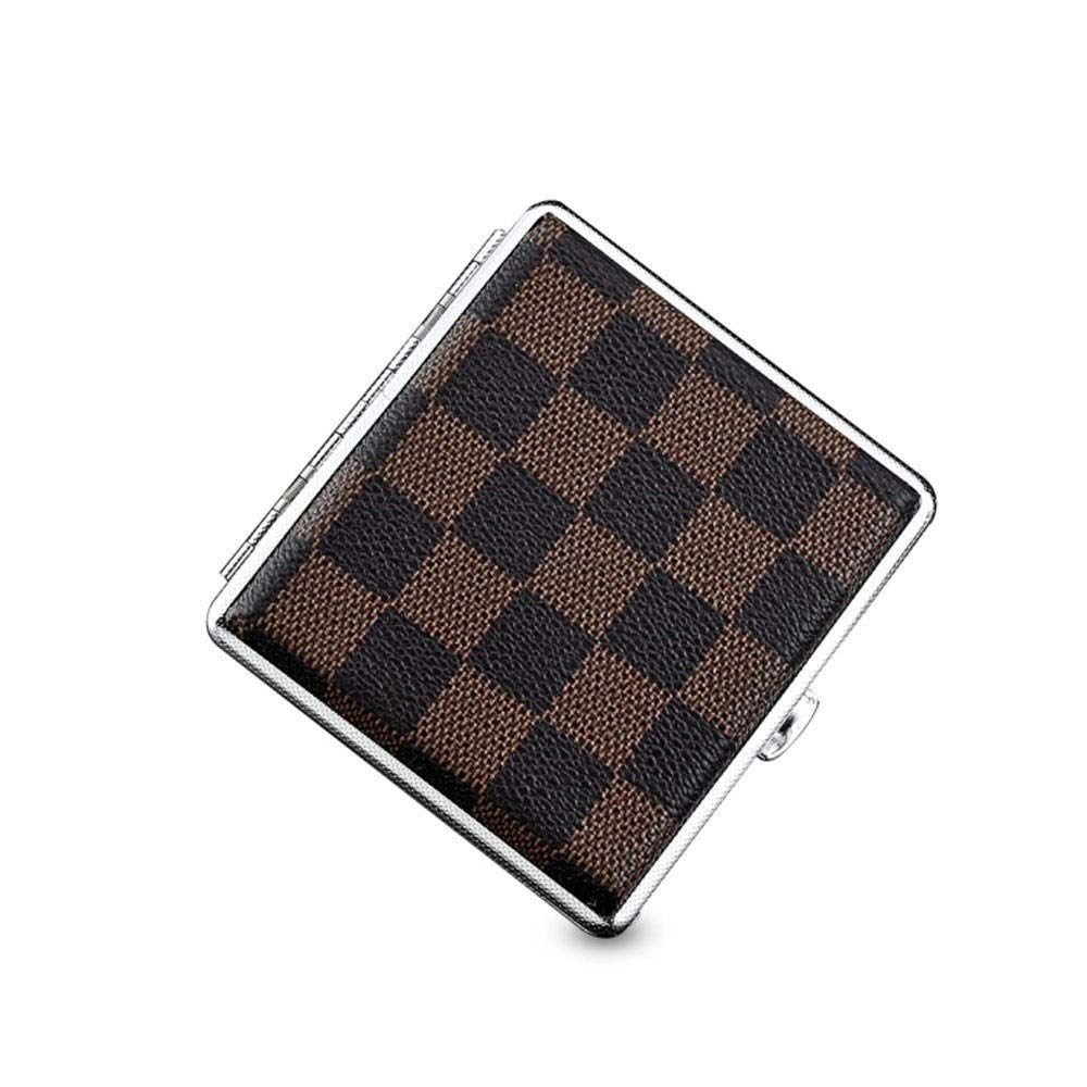 WENPINHUI Cigarette Case, Creative Thin Cigarette Case, Moisture-proof And Pressure-proof Metal Cigarette Case, Commercial Square Cigarette Case, 20 Sticks, Ideal Gift For Smokers, Multi-color Optiona by WENPINHUI