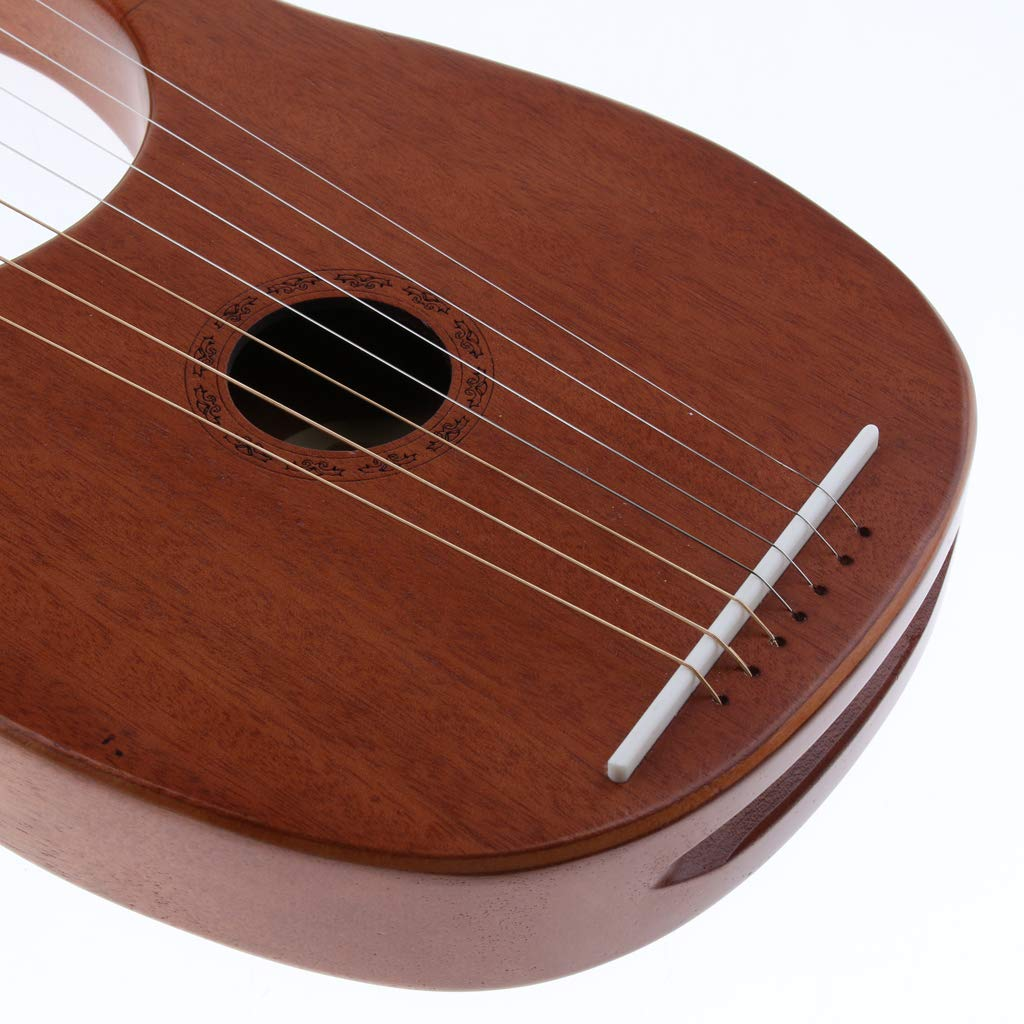 Baosity Mahogany 7 Strings Harp with Tuning Wrench&Bag for Learner Practice by Baosity (Image #4)
