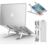 Laptop Stand, Adjustable Ergonomic Laptop Stand with Laptop Stand, Aluminum Folding Desk Stand, Compatible with MacBook…
