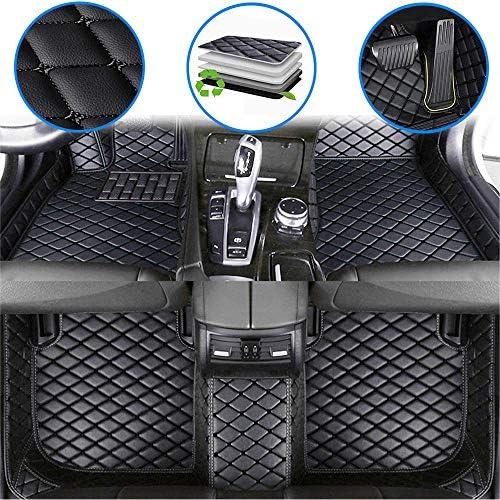 Ruberpig Car Custom Floor Mats for Mercedes Benz E-Class W211 E200 E220 E230 E240 E250 E270 E280 E300 E320 E350 E400 E420 E500 2002-2008 Luxury Leather Waterproof Non-Slip Floor Liner Full Set Black