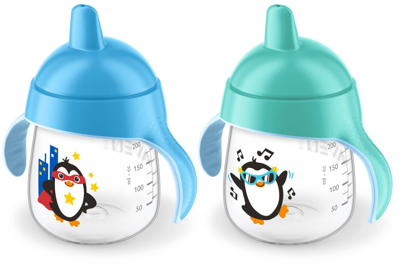 Philips Avent My Penguin Sippy Cup 9oz, Blue, 2pk, SCF753/25