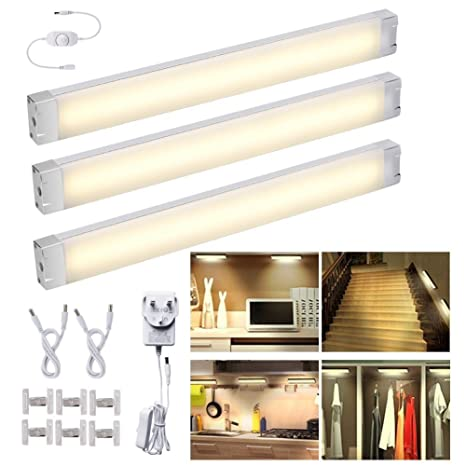 Pleasant Led Under Cabinet Lighting Kit Dimmable Under Counter Kitchen Lights 12W 1005 Lumens 3200K Warm White 24 Led Closet Cupboard Wardrobe Lights All Home Interior And Landscaping Ponolsignezvosmurscom