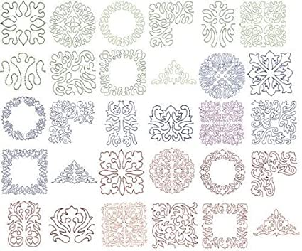 Amazon Oesd Embroidery Designs Cd Elegant Line Quilting 3