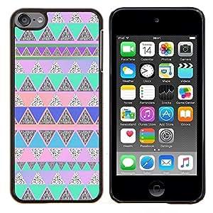 Eason Shop / Premium SLIM PC / Aliminium Casa Carcasa Funda Case Bandera Cover - Native American Pattern Pink Teal - For Apple iPod Touch 6 6th Touch6