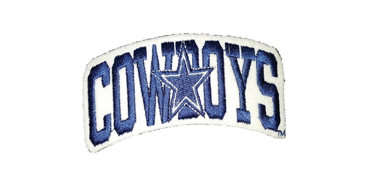 SMM Unlimited NFL Dallas Cowboys Football Team with Star Logo 4.5' Embroidered Sew Iron Patch Patched Up 4337020142