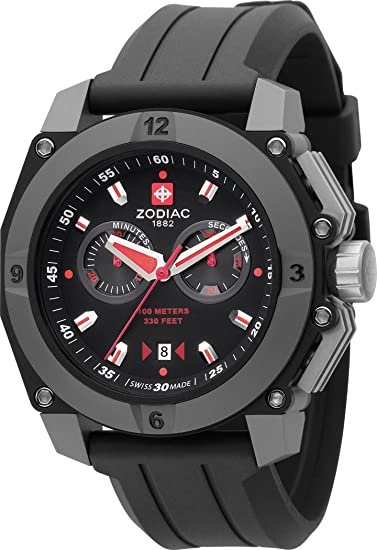 Zodiac ZO6700 - Reloj para hombres, correa de acero inoxidable color gris