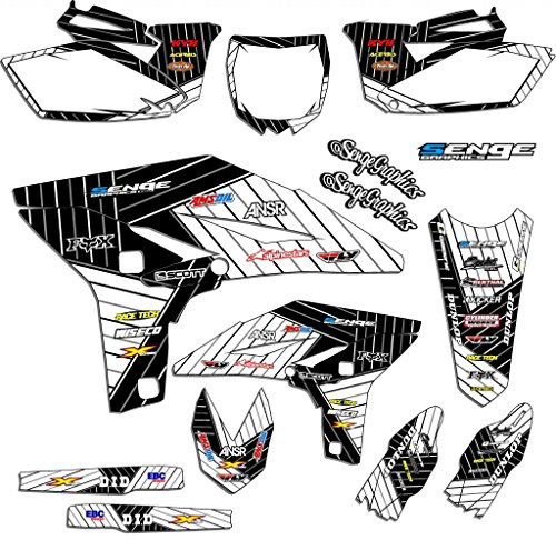 Compatible with Yamaha 2000-2007 TTR 125, Race Series White Graphics Kit ()