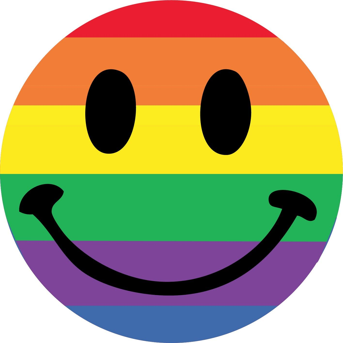 Funky Gifts Rainbow Smiley Face 25mm Button Badge: Amazon.co.uk: Toys &  Games