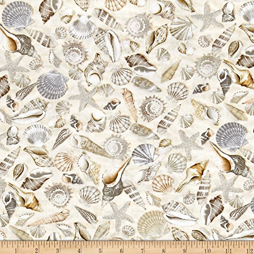 Timeless Treasures 0512259 Beach Haven Fabric by The Yard, Shells (The Coastal By Fabric Yard)