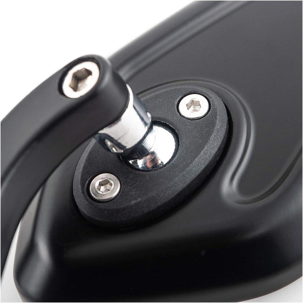 evomosa Motorrad Seitenspiegel Universal R/ückspiegel 8mm 10mm Schwarz Spiegel