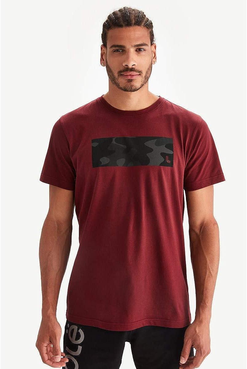 Lolë Ace - Camiseta de algodón orgánico de Manga Corta Granate XL ...