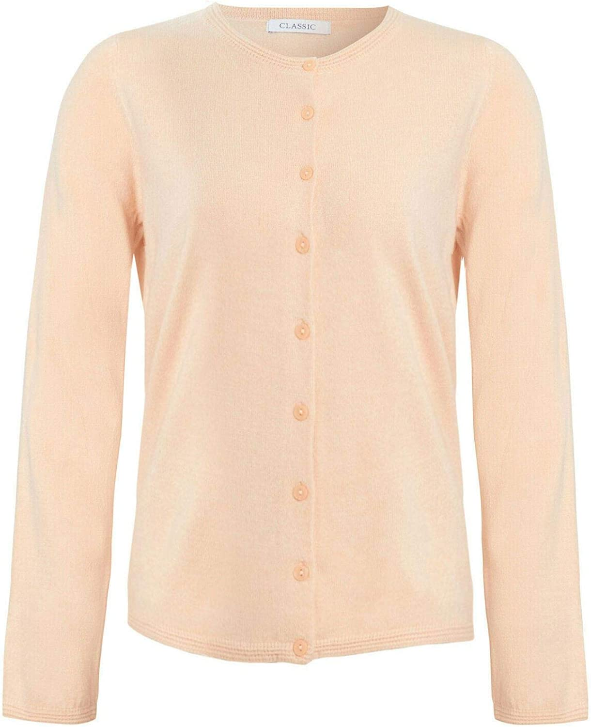 White Label M&S Womens Fine Knit Cardigan Marks & Spencer Soft Round Neck Cardie Top