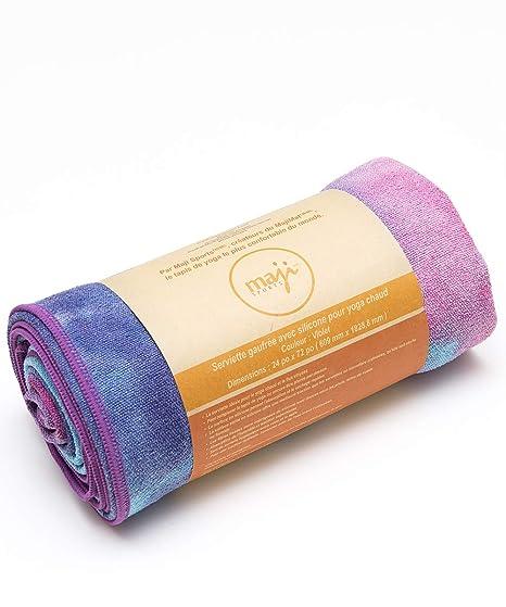 Maji Sports NoSkid Tie-Dye-Sandwash Yoga Towel - Winter
