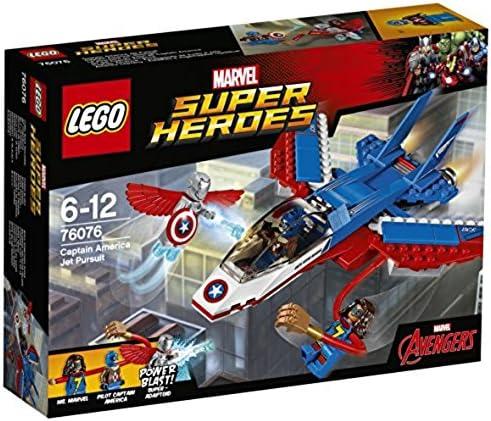 LEGO Marvel Super Heroes - La poursuite en avion de Captain America - 76076 - Jeu de Construction