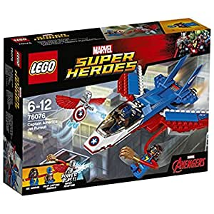 LEGO Super Heroes Marvel Captain America Jet Pursuit 76076 Playset Toy