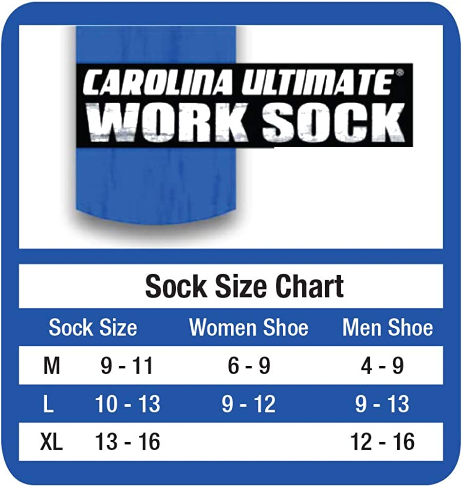 Carolina Ultimate Mens Sport Cushion Mid Calf Tube Socks 6 Pack