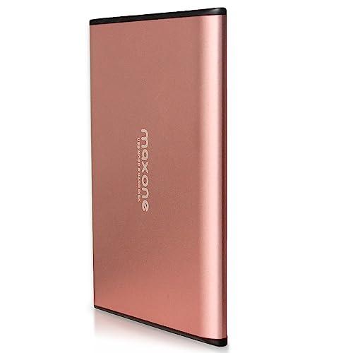 """Maxone 2.5 """"/6,3 cm Ultra fin disque dur externe portable USB 3.0 pour ordinateur portable/de bureau/Xbox One/PS4(250GB, Rose Pink)"""