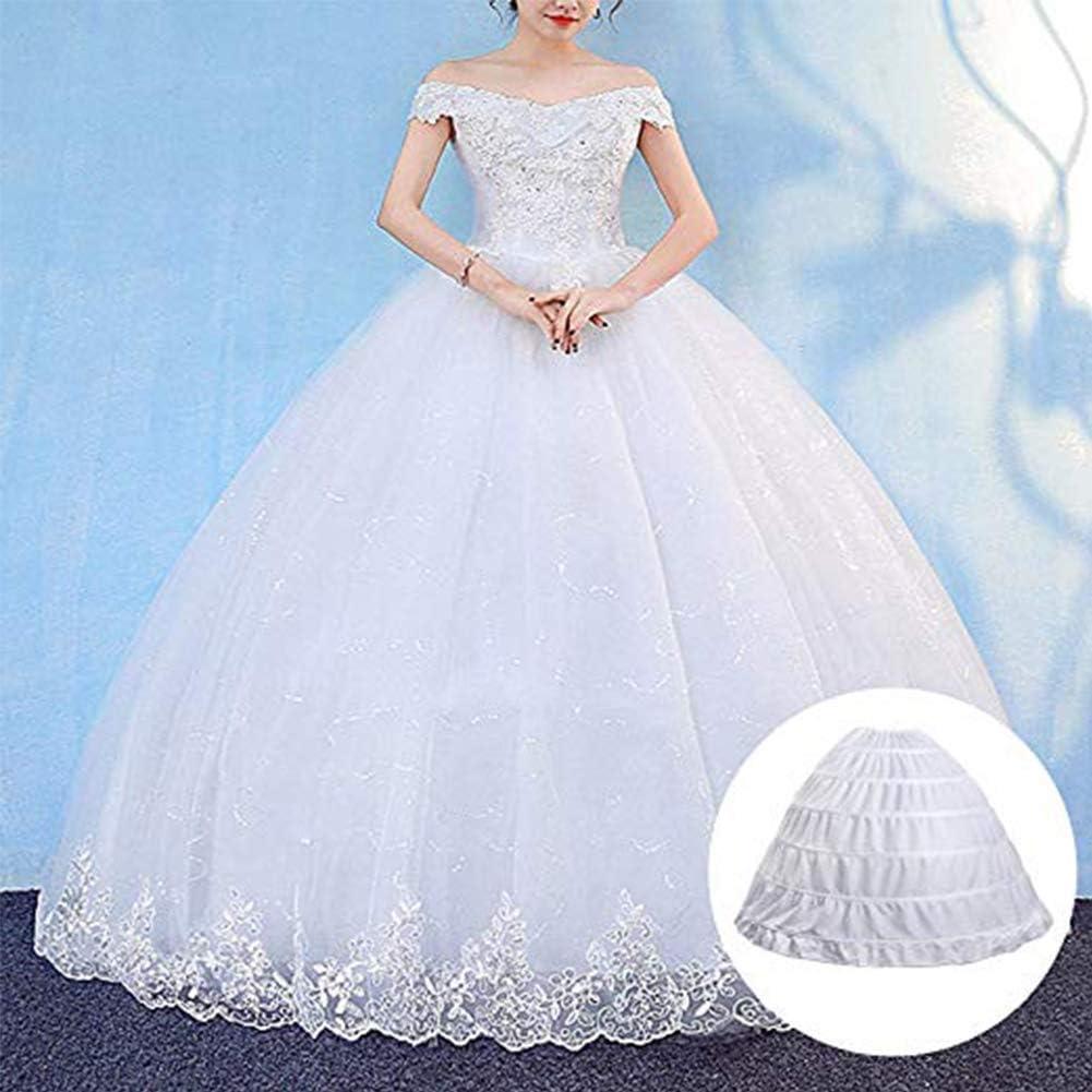 Noriviiq Damen 6 Reifrock Petticoat Crinoline A Linie Bodenl/änge Hochzeitskleider Unterrock