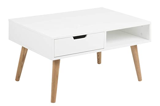 AC Design Furniture Mariela Mesa, Madera, Blanco, 60 x 80 x 45.5 ...