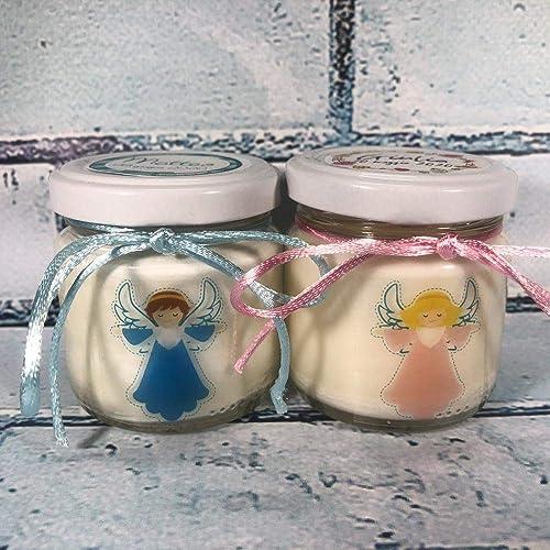 Amato Comunione Battesimo Cresima 25 candele di cera di soia bomboniere PR94