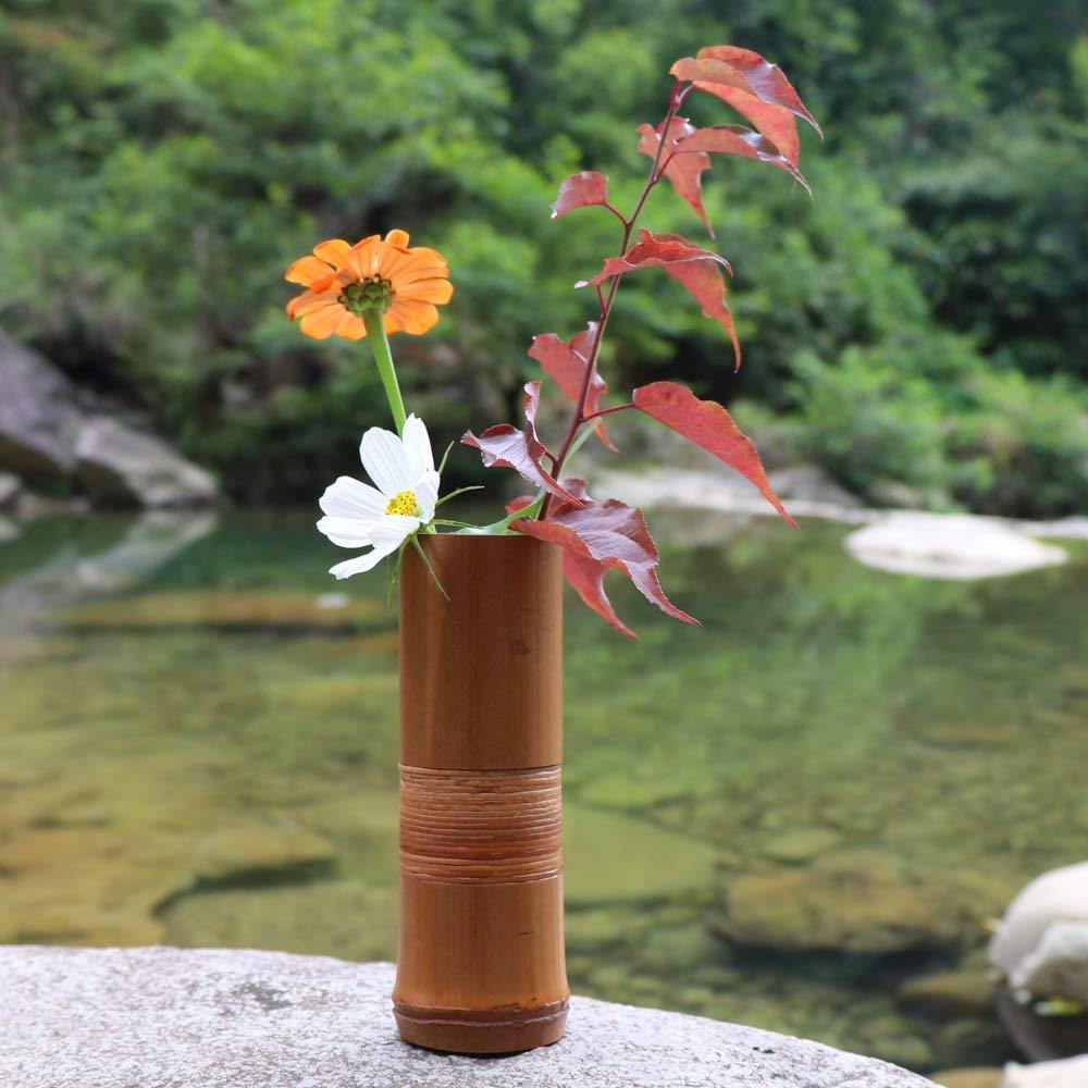 Jarrón de Flores de bambú