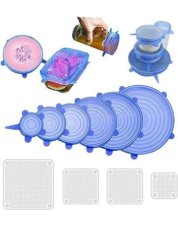 NEEGO Tapas De Silicona EláSticas 10 Paquetes De Varios TamañOs De Silicona Cubiertas Reutilizable Para Tazones