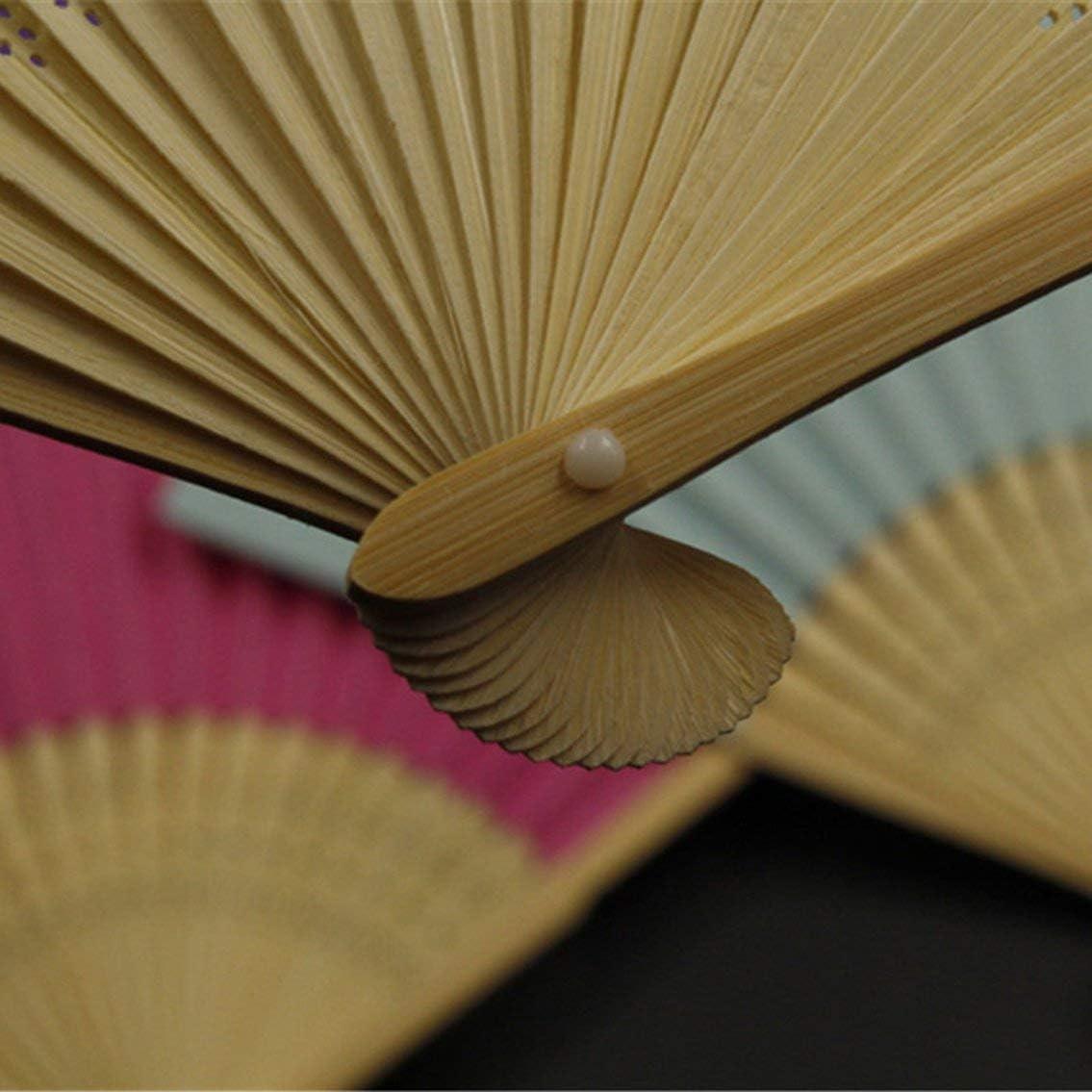 Ventilatore pieghevole in stile cinese estivo allaperto di viaggio ventola di raffreddamento ventilatore pieghevole universale ventilatore decorativo decorazione casa decoro//verde fluorescente