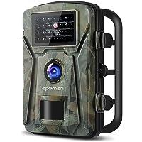 """apeman Wildkamera mit Bewegungsmelder 1080P 12MP Nachtsicht 20m mit 2,4"""" LCD Bildschrim IP66 Wasserdichtes Gehäuse für Jagd und Heimüberwachung Fotofalle"""