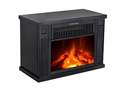 Incroyable 3GPlus 14u0026quot; Mini Electric Fireplace Portable Heater Log Fuel Effect,  1000 Watt Black