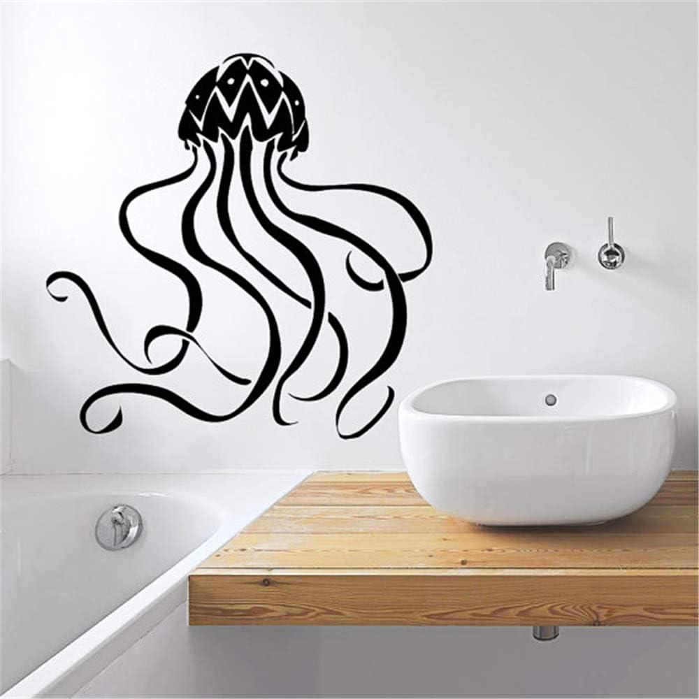 Ajcwhml Mar Profundo de Animales Marinos Aplique de Pared patrón de Medusas Arte Lindo diseño Pegatinas de Pared Estilo de Moda Dormitorio decoración 58x58cm: Amazon.es: Hogar