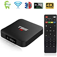 Android 7.1 TV Box, Android Box T95 S1 Smart TV Box with 1GB RAM 8GB ROM, S905W Quad-core cortex-A53 2.4G WiFi Support 4K Full HD with Remote Control
