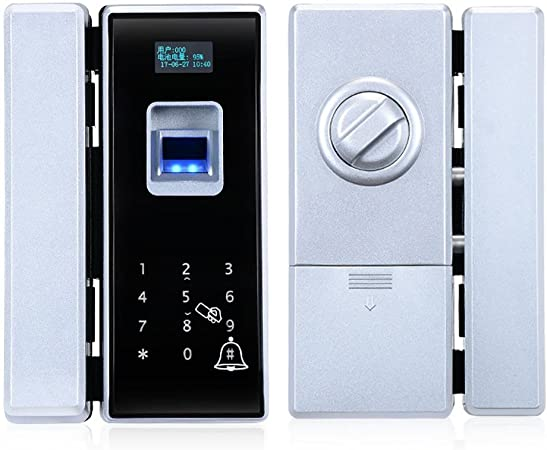 Puerta de cristal Biometría Cerradura de huella digital ...