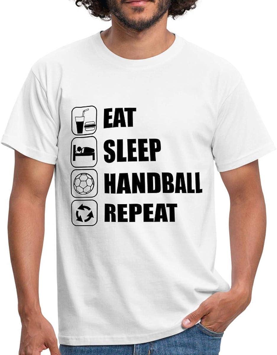 Spreadshirt Handball Rythme Cardiaque Handballeur T-Shirt Premium Homme