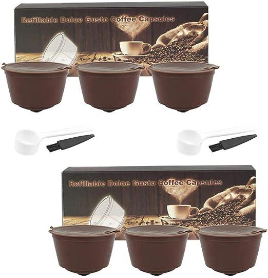 Hamkaw Cápsula de café reutilizable, repuesto de filtro de ...