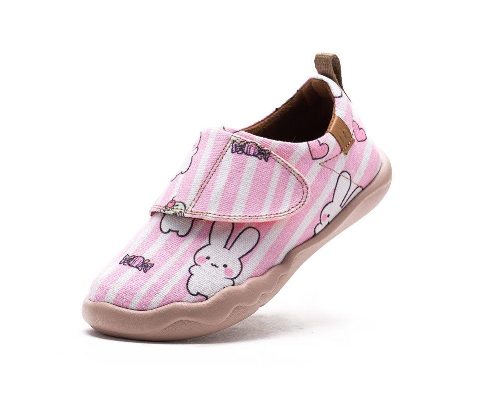 UIN Kid's Cute Bunny Canvas Boat Shoe Pink (Little Kid) (10£