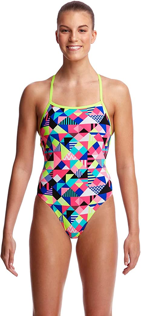 Funkita Ladies Purple Patch Strapped In One Piece (Ladies 8