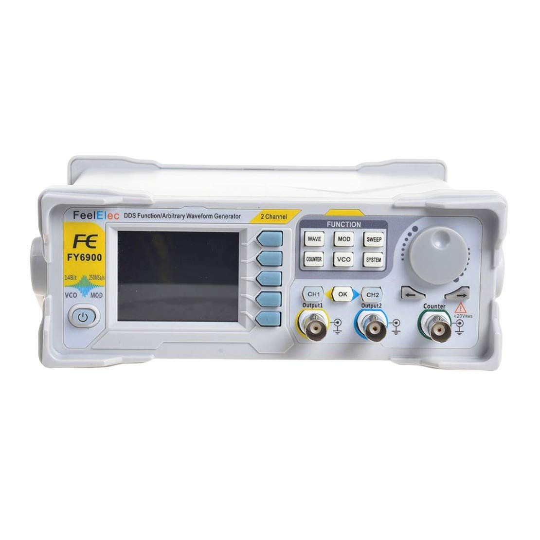 FY6800 DDS Signal Generator Double Channel AC100-240V 60MHz AM//FM//PM//ASK//FSK//PSK