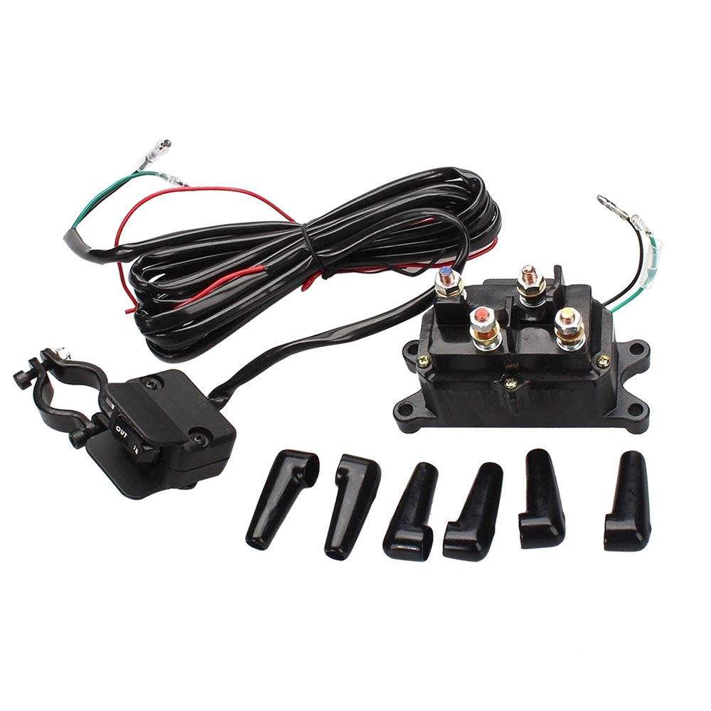 Bewant 12V Solenoid Relay Contactor and Winch Rocker Thumb Switch Combo Set for ATV UTV by Bewant