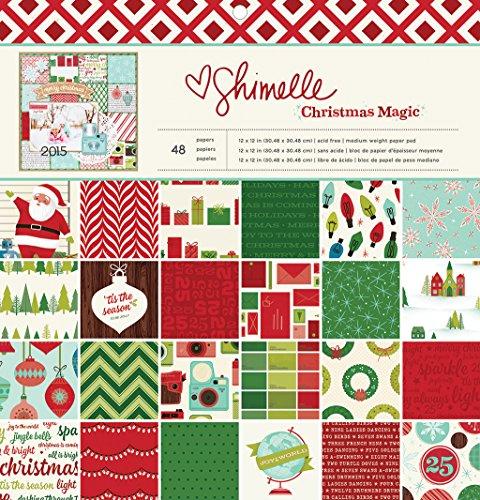 "UPC 718813406352, American Crafts Shimelle 48 Sheet Christmas Magic Paper Pad, 12 x 12"""