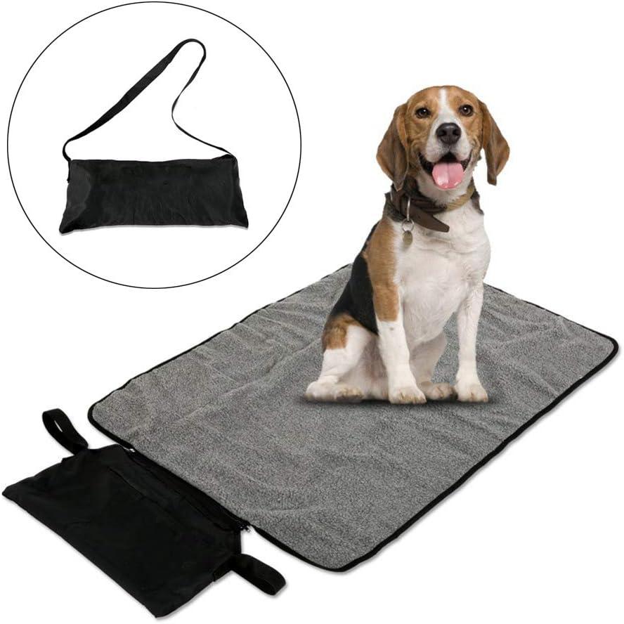 ASOCEA Manta Impermeable para Mascotas, Perros, Gatos, para Interior y Exterior, con Bolsa de Almacenamiento para Salida, Coche, Camping: Amazon.es: Productos para mascotas