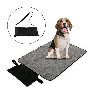 ASOCEA Manta Impermeable para Mascotas, Perros, Gatos, para Interior y Exterior, con Bolsa de Almacenamiento para Salida, Coche, Camping: Amazon.es: ...