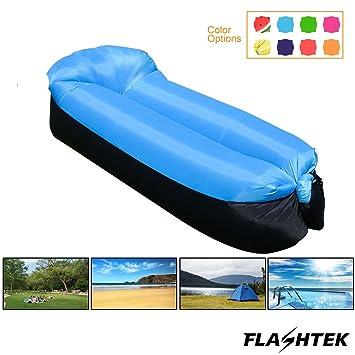 flashtek portátil inflable sofá, resistente al agua aire ...