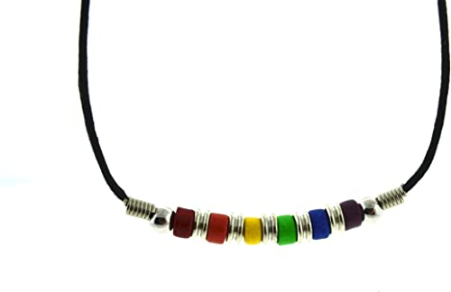 """PRIDE EQUALITY  DOG TAG PENDANT NECKLACE WITH 24/"""" BEADED NECKLACE"""