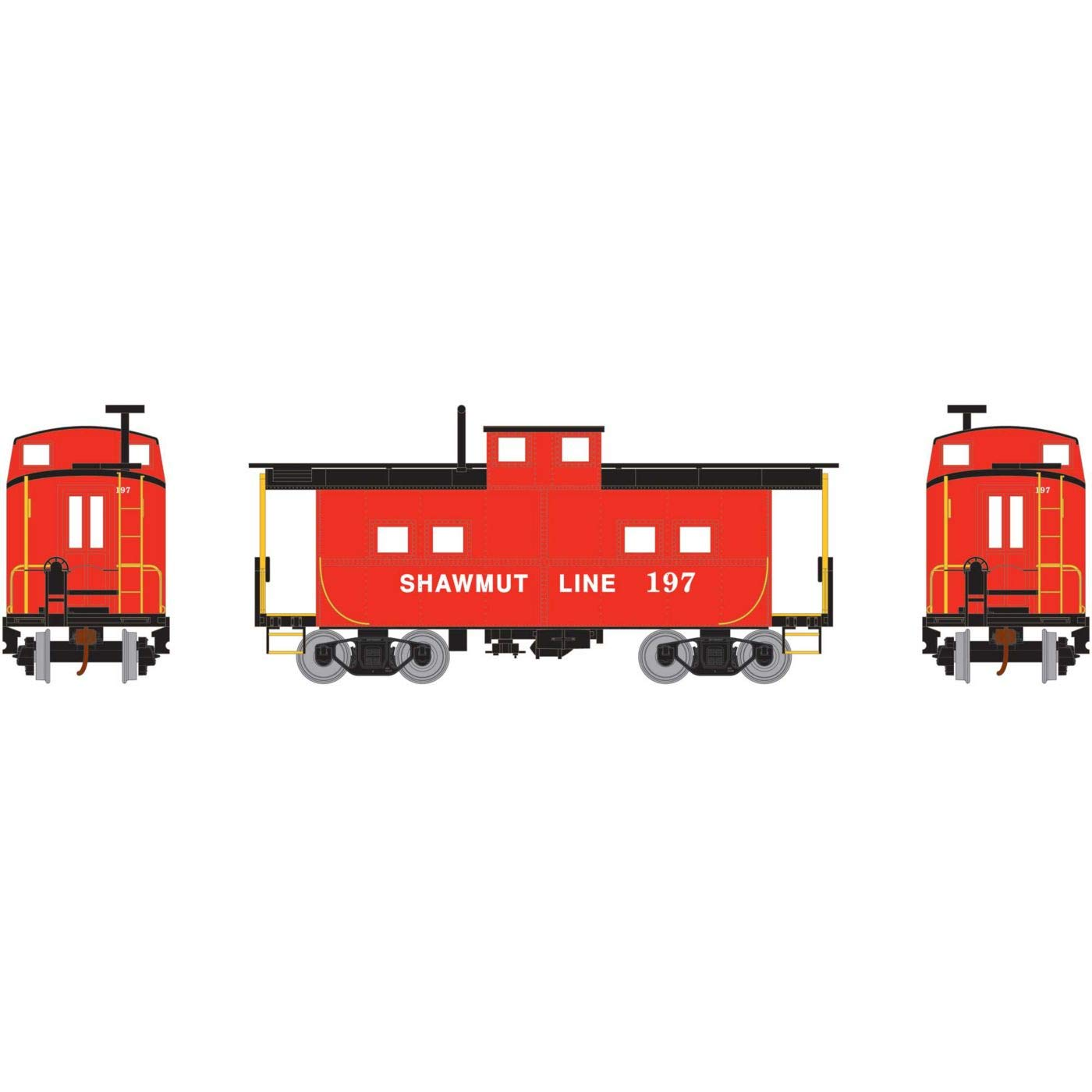 Athearn HO Eastern Caboose P&S #197, RND74965